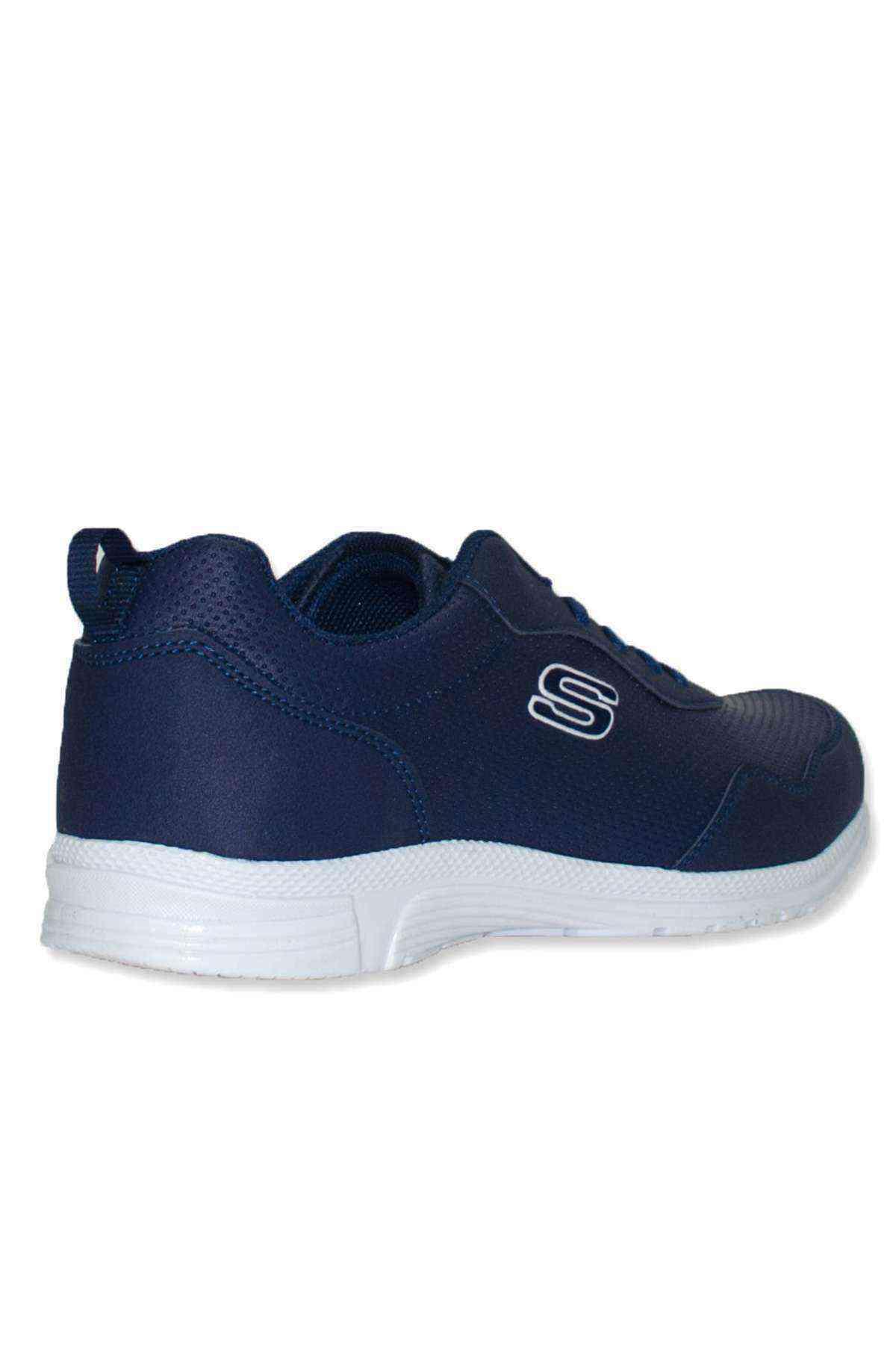 Erkek Lacivert Spor Ayakkabı Sneaker - Scookrs 575