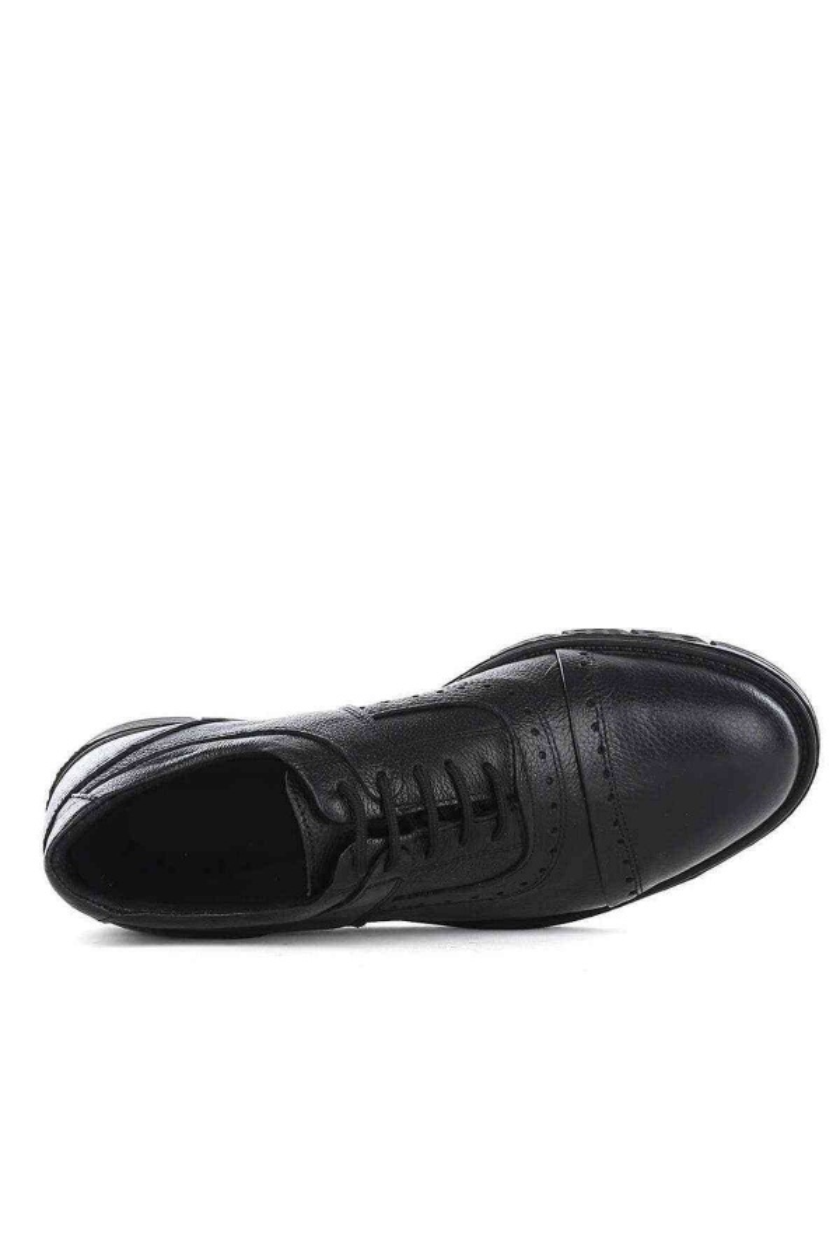 Erkek Siyah Hakiki Deri Casual Ayakkabı - Mesolite M-03