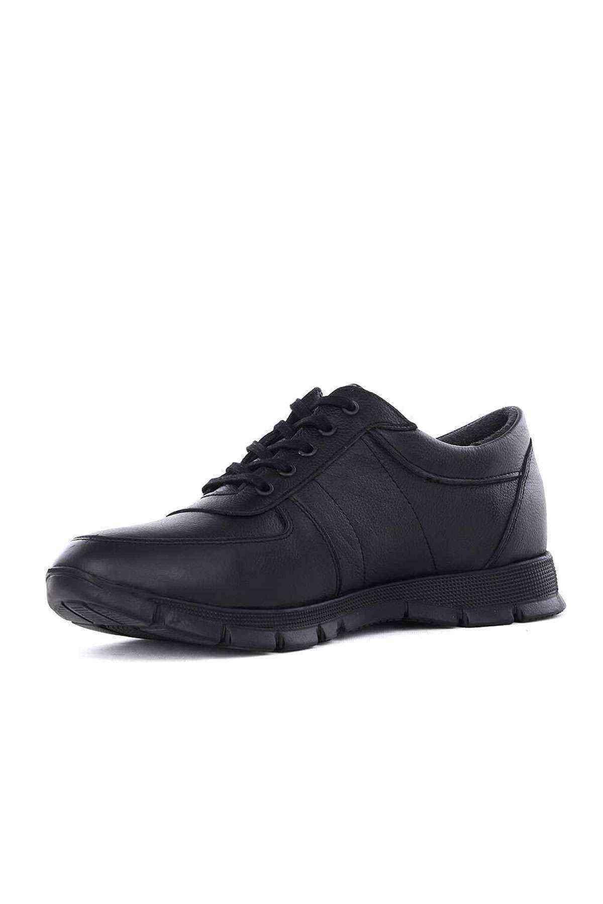 Erkek Hakiki Deri Siyah Casual Ayakkabı