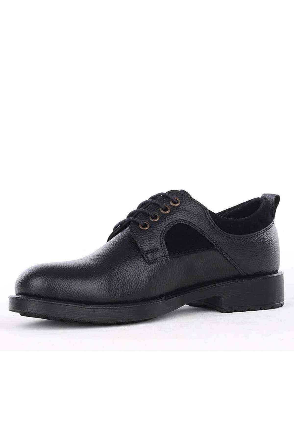 Erkek Siyah Deri Klasik Ayakkabı - DRC 032