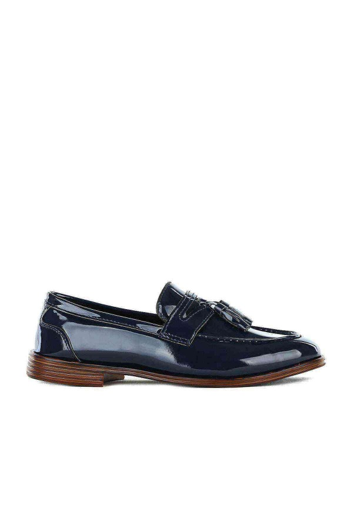 Erkek Lacivert Rugan Klasik Ayakkabı -  Ginnex 115-1